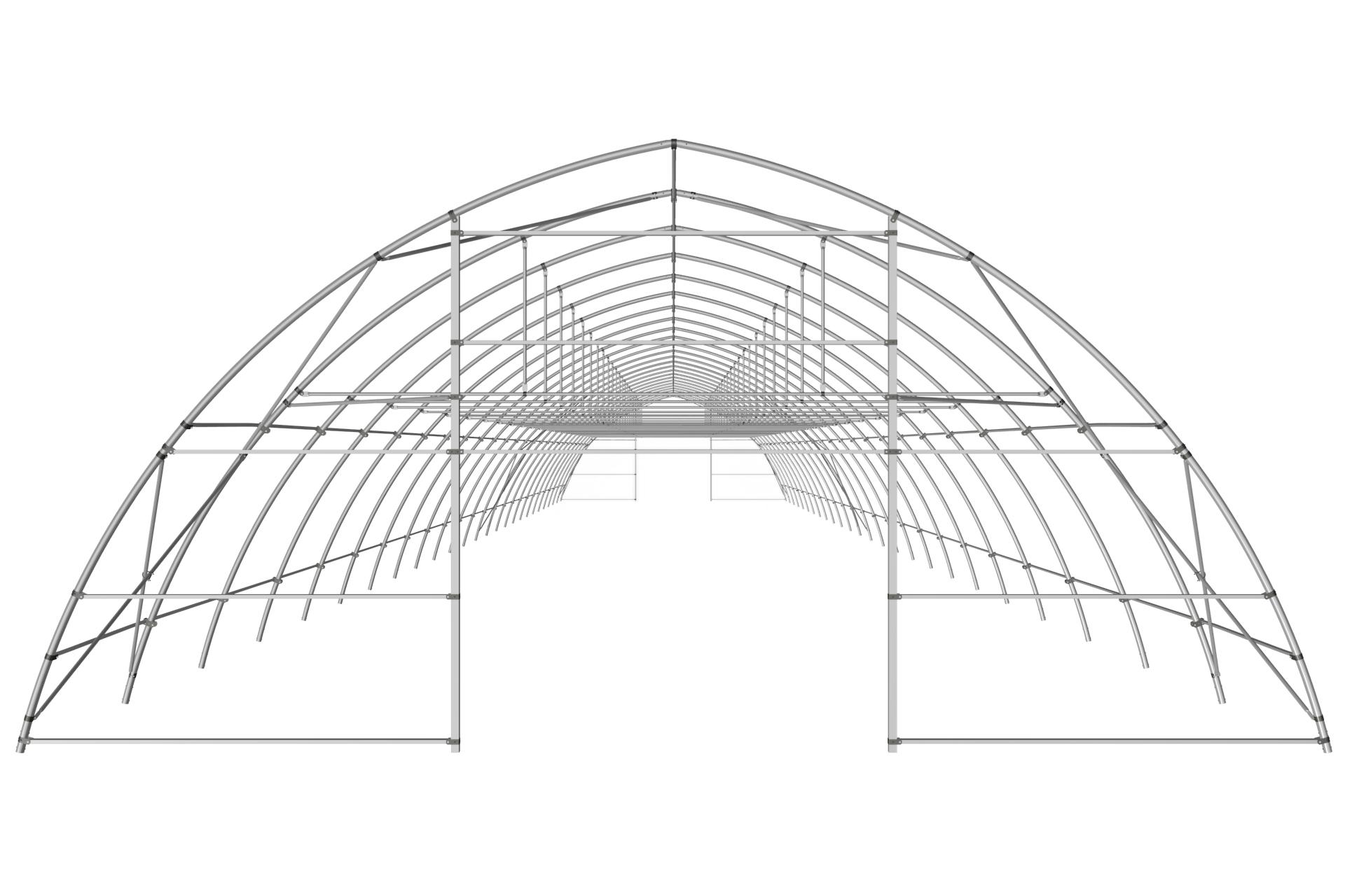 Теплица туннельная арочная 9,6х4,5 м